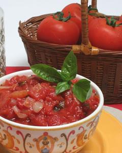 Diabetic Fresh Tomato Sauce Recipe from Diabetic Gourmet Magazine. DiabeticGourmet.com