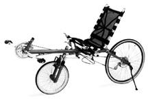 Photo of a recumbent bicycle