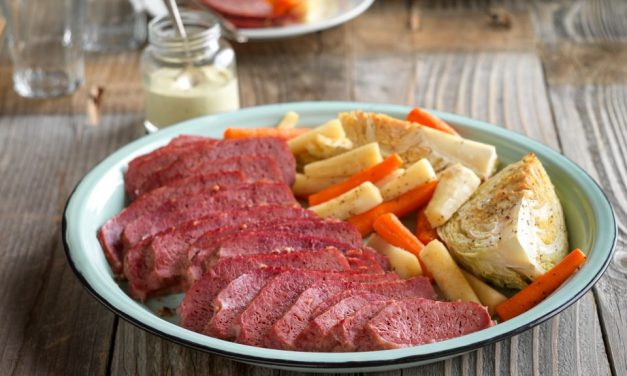 Corned Beef and Roasted Vegetable Salad with Lemon-Dill Dressing