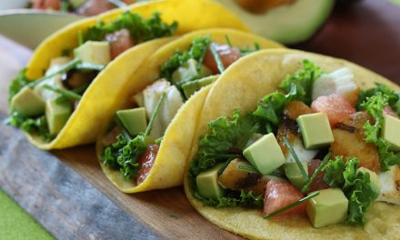 Fish Tacos with California Avocado, Grapefruit and Toasted Ancho Salsa