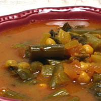 Give Vegetable Soup a Spanish Accent