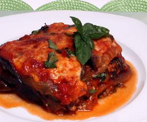 Italian-Style Eggplant, Tomato and Spinach Casserole