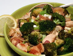 Lemon Chicken with Broccoli and a Tropical Twist