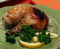 Lemony Herb-Glazed Roasted Chicken
