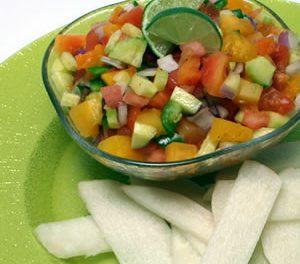 Go Tropical with Papaya Salsa and Jicama Chips
