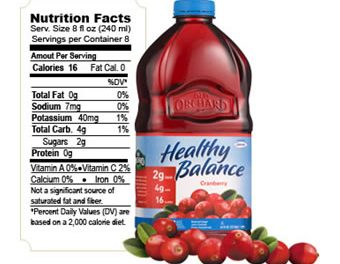 Healthy Balance Reduced-Sugar Juice Cocktails