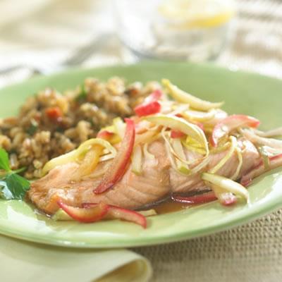 Apple-Balsamic Salmon Recipe Photo - Diabetic Gourmet Magazine Recipes
