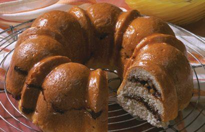 Apricot-Walnut Swirl Coffeecake
