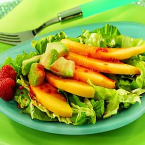 Avocado and Mango Salad with Acai-Berry Vinaigrette Recipe Photo - Diabetic Gourmet Magazine Recipes