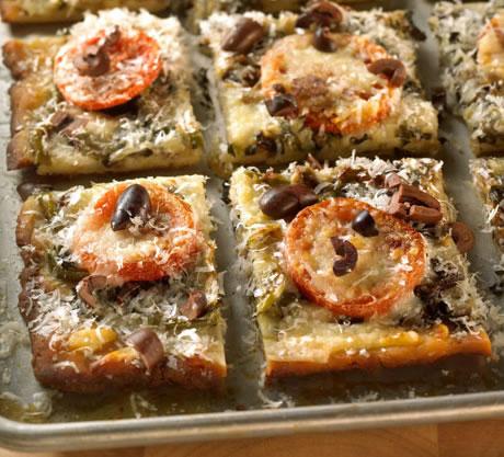 Basil Focaccia Wedges Recipe Photo - Diabetic Gourmet Magazine Recipes