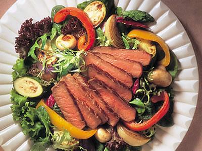 Beef Steak and Roasted Vegetable Salad
