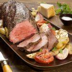 Beef Tenderloin Roast with Garlic-Roasted Vegetables