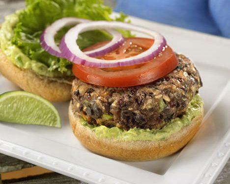 Black Bean Burgers with Avocado-Lime Mayo