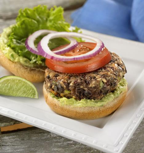 Black Bean Burgers With Avocado Lime Mayo