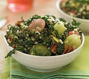 Bulgur, Grape and Kale Salad