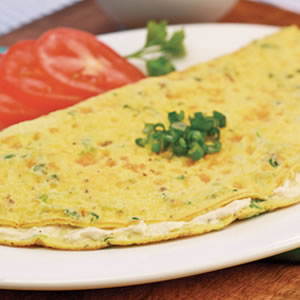 Cheesy Scallion Omelet