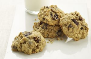 Chocolate Cherry Oatmeal Cookies recipe photo from the Diabetic Gourmet Magazine diabetic recipes archive.