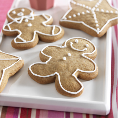 Christmas Gingerbread Men Cookies recipe photo from the Diabetic Gourmet Magazine diabetic recipes archive.