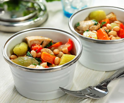 Chunky Chicken, Vegetable and Rosemary Stew Recipe Photo - Diabetic Gourmet Magazine Recipes