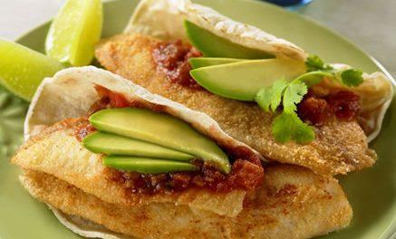 Fish Tacos with Avocado Salsa