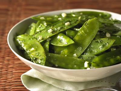 Garlic Snow Peas With Cilantro