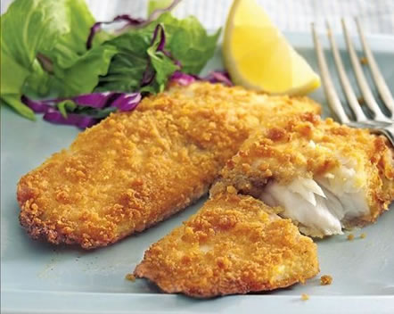 Graham-Cracker Crusted Cod