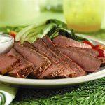 Grilled Eye Round Steaks With Wasabi-Yogurt Cream