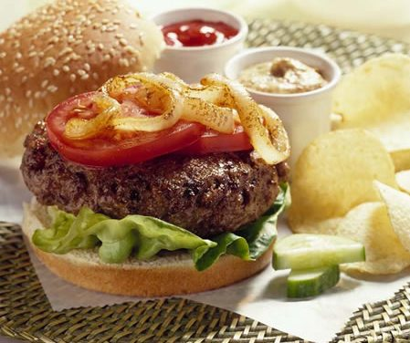 Grilled Onion Burger