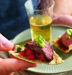 Grilled Salsa Steak Appetizer