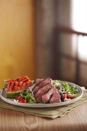 Grilled Steak and Watermelon Salad Recipe Photo - Diabetic Gourmet Magazine Recipes