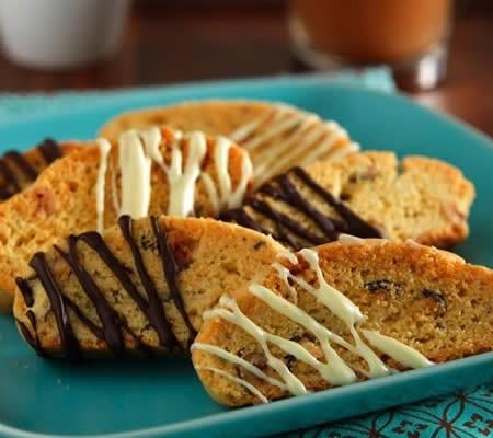 Hazelnut Biscotti recipe photo from the Diabetic Gourmet Magazine diabetic recipes archive.