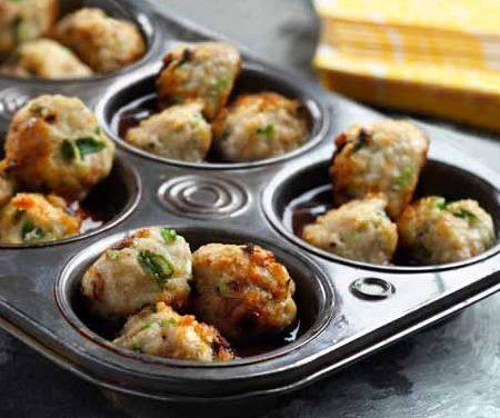 Hoisin-Whiskey Glazed Meatballs