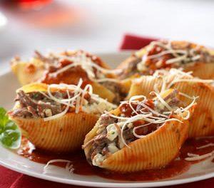 Italian Beef Stuffed Shells Marinara