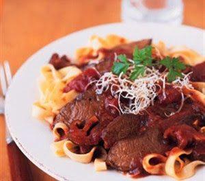 Italian Braised Parmesan Beef with Wild Mushroom Sauce