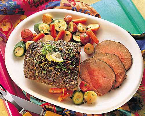 Lemon-Herb Beef Roast Recipe Photo - Diabetic Gourmet Magazine Recipes