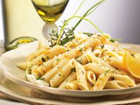 Lemon-Herb Penne Recipe Photo - Diabetic Gourmet Magazine Recipes