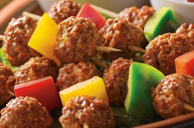 Mexican Meatball Kabobs