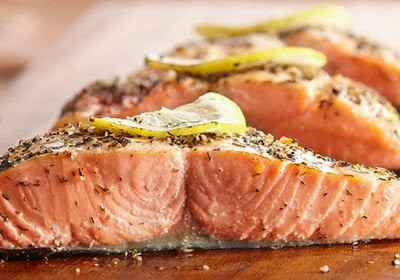 Montreal-Style Salmon Recipe Photo - Diabetic Gourmet Magazine Recipes