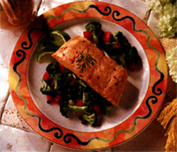 Pacific Ocean Salmon with Fresh Vegetables
