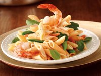 Penne Primavera with Shrimp