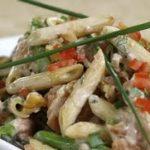 Penne and Smoked Salmon Pasta Salad