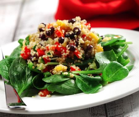 Quinoa, Black Bean and Mango Salad Recipe Photo - Diabetic Gourmet Magazine Recipes