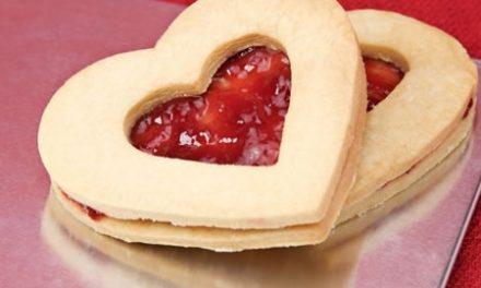 Raspberry Heart Cookies