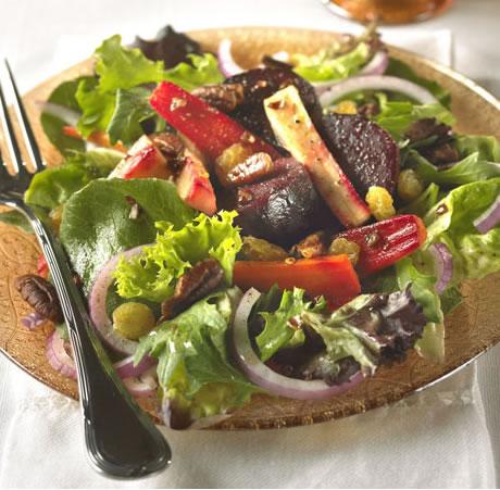 Roasted Beet and Carrot Salad Recipe Photo - Diabetic Gourmet Magazine Recipes
