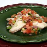 Roasted Fish with Christmas Salsa