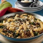 Rotini with Ground Beef and Spinach