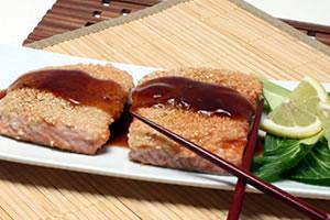 Sesame Salmon Recipe Photo - Diabetic Gourmet Magazine Recipes