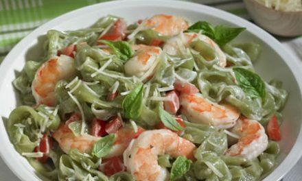 Skinny Shrimp Fettuccine Alfredo