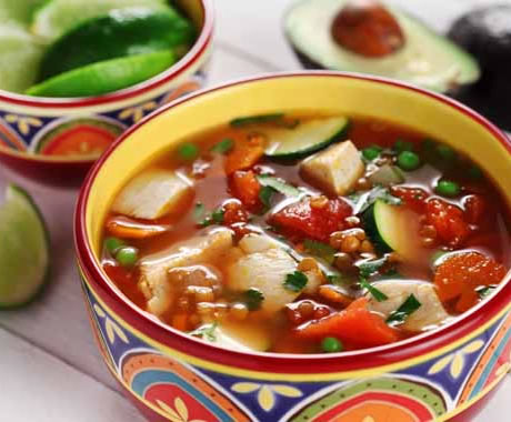 Sopa De Pollo a la Mexicana – Mexican Chicken Soup Recipe Photo - Diabetic Gourmet Magazine Recipes