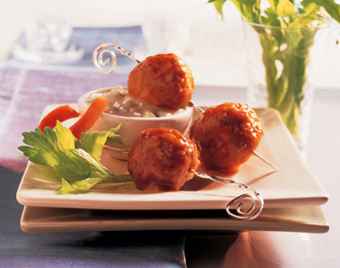 Spicy Buffalo-Style Meatballs Recipe Photo - Diabetic Gourmet Magazine Recipes